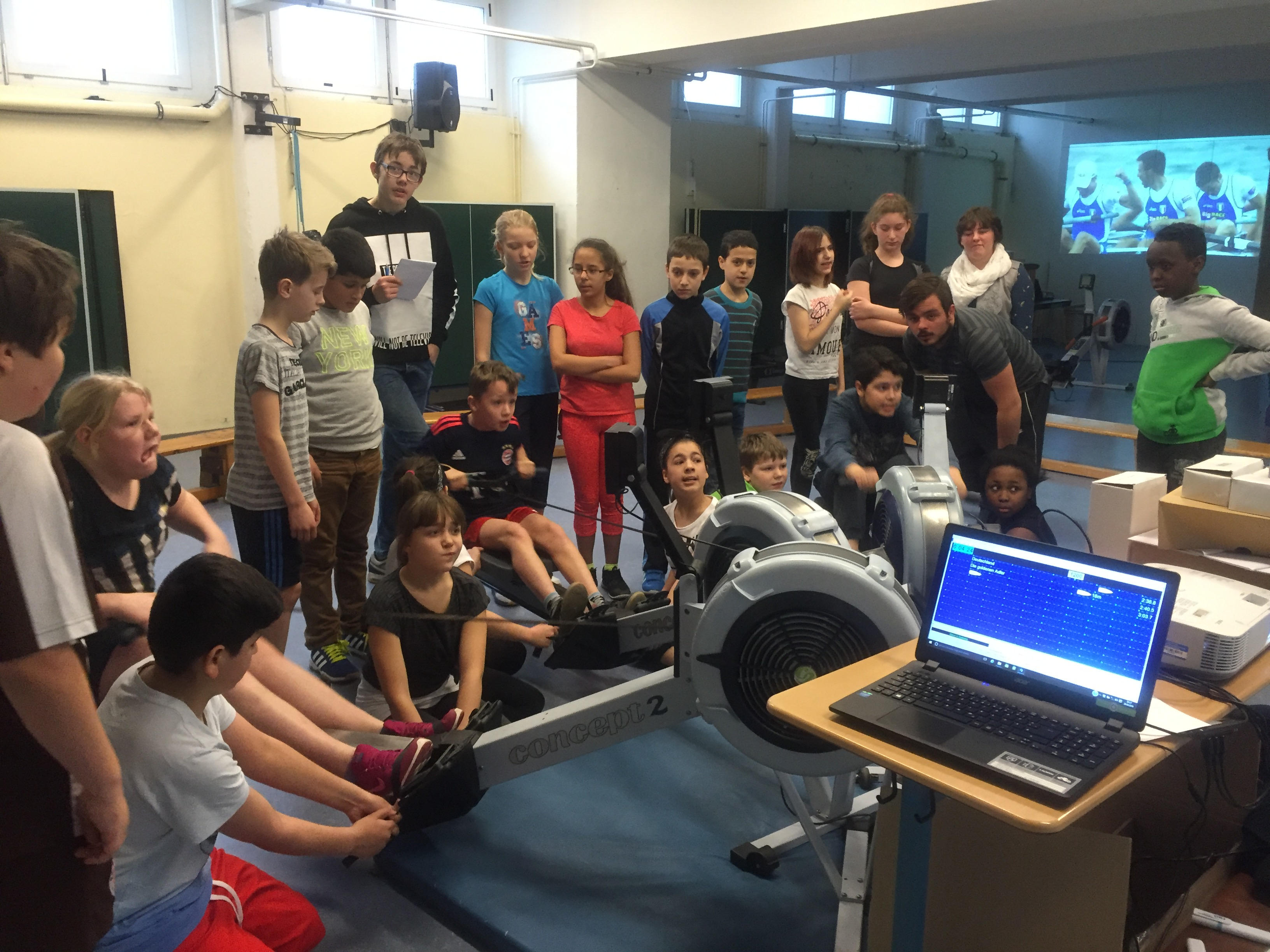 Goethe Schule Harburg ergometerevent an der goetheschule harburg rudern de