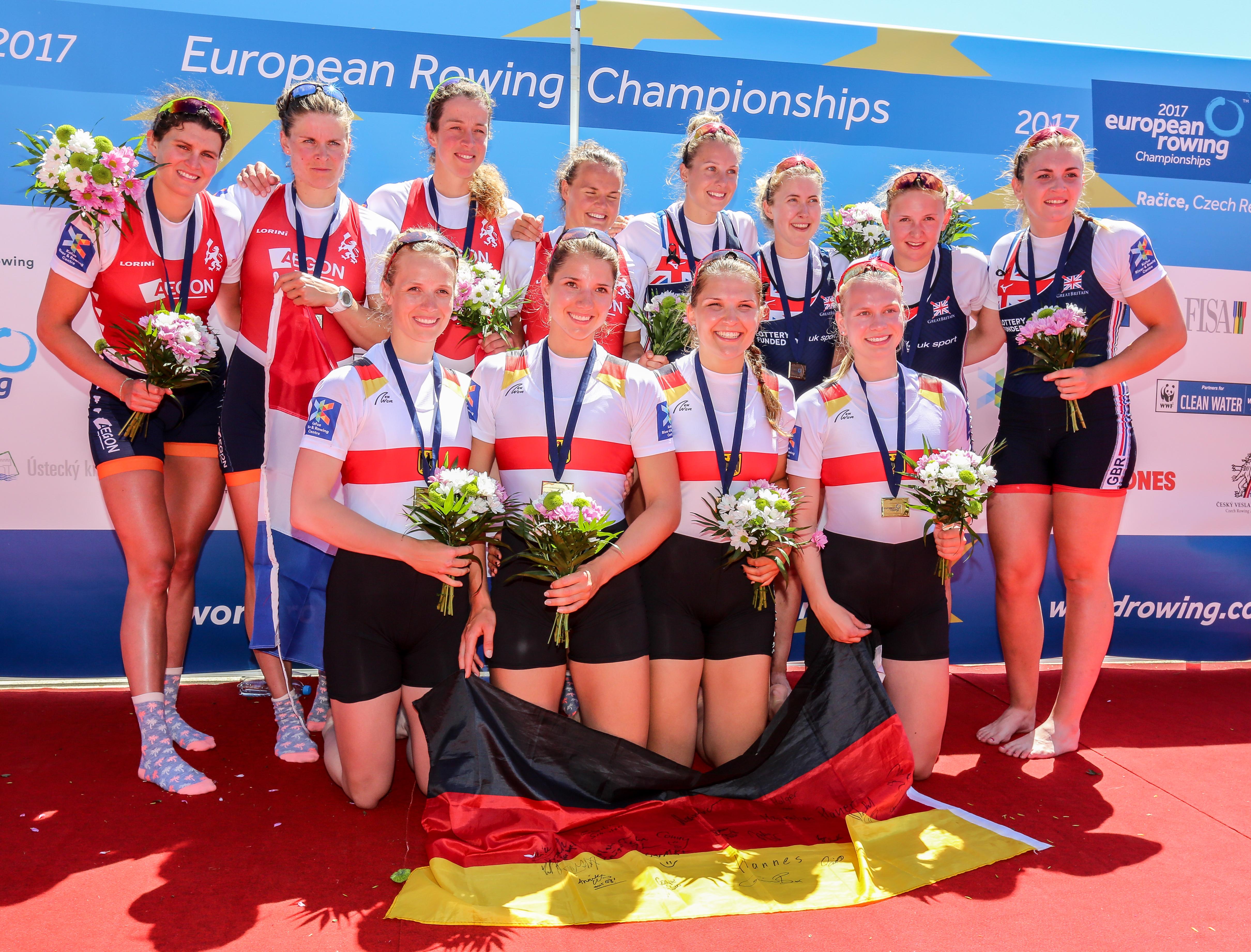 Frauen-Doppelvierer, Europameisterschaften 2017, Racice, Tschechien